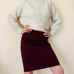 NWT Ralph Lauren burgundy pencil skirt